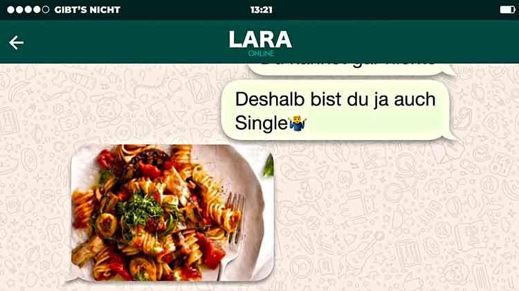 Une discussion en allemand sur la messagerie Whatsapp